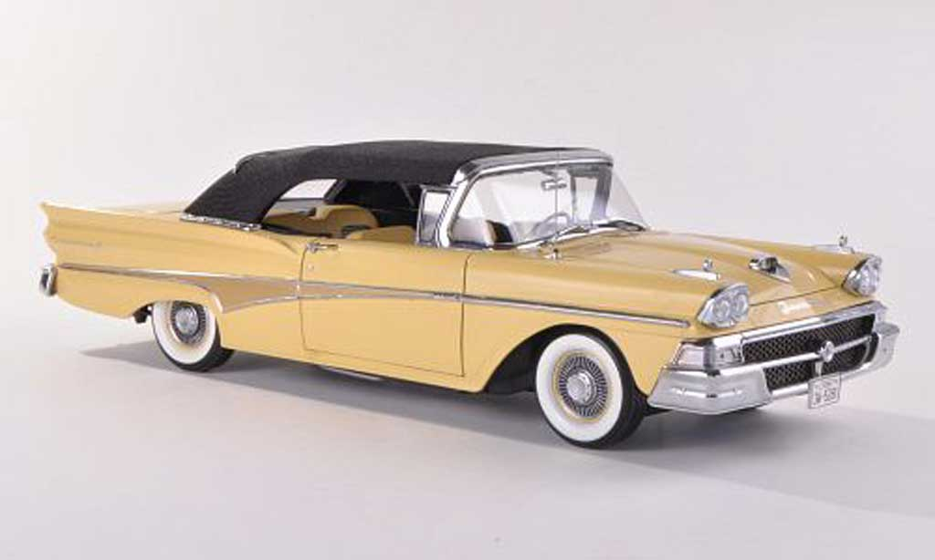 Ford Fairlane 1958 1/18 Sun Star Convertible yellow Verdeck geschlossen  1958 diecast