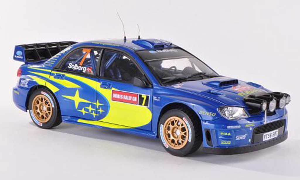 Subaru Impreza WRC 1/18 Sun Star No.7 Rally Wales 2007 diecast model cars