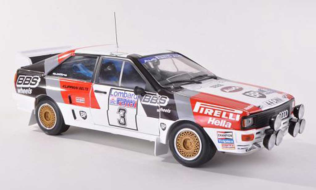 Audi Quattro 1/43 Sun Star A2 No.3 Pirelli/BBS Rally Grande-Bretagne 1983 S. Blomqvist/B.Cederberg miniature