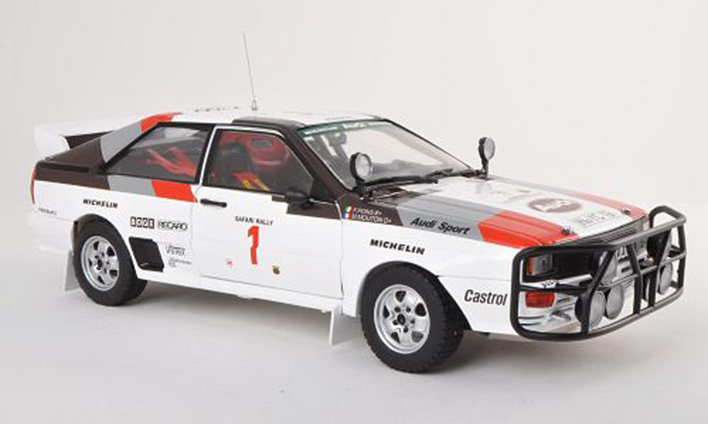 Audi Quattro 1/18 Sun Star A1 No.1 Safari Rally 1983 M.Mouton/F.Pons miniature