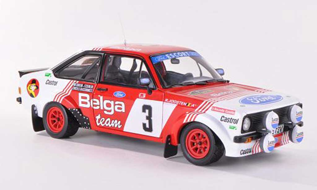 Ford Escort MK2 1/18 Sun Star 1800 No.3 Belga Rally Bianchi  1982