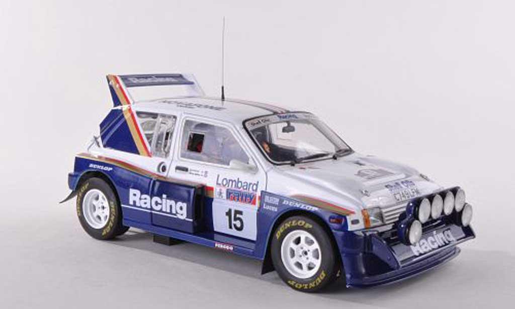 MG Metro 1/18 Sun Star 6R4 No.15 Rothmans RAC Rally 1986 J.McRae/I.Grindrod miniature
