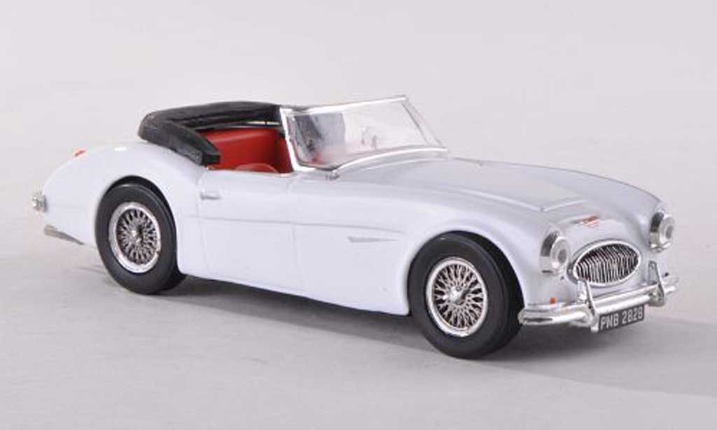 austin healey 3000 miniature ouverte blanche rhd vitesse 1 43 voiture. Black Bedroom Furniture Sets. Home Design Ideas