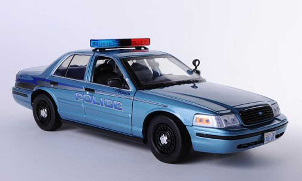 Ford Crown 2008 1/18 Greenlight 2008 Victoria Forks Police Twilight - Charlie's Police Cruiser 2008 miniature