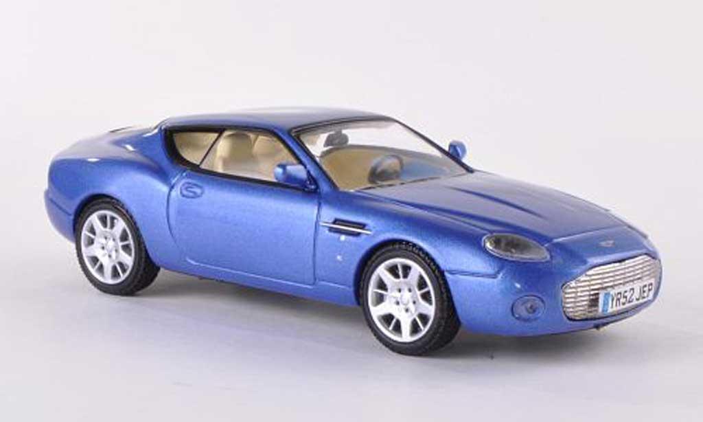 Aston Martin DB7 1/43 WhiteBox Zagato bleue miniature
