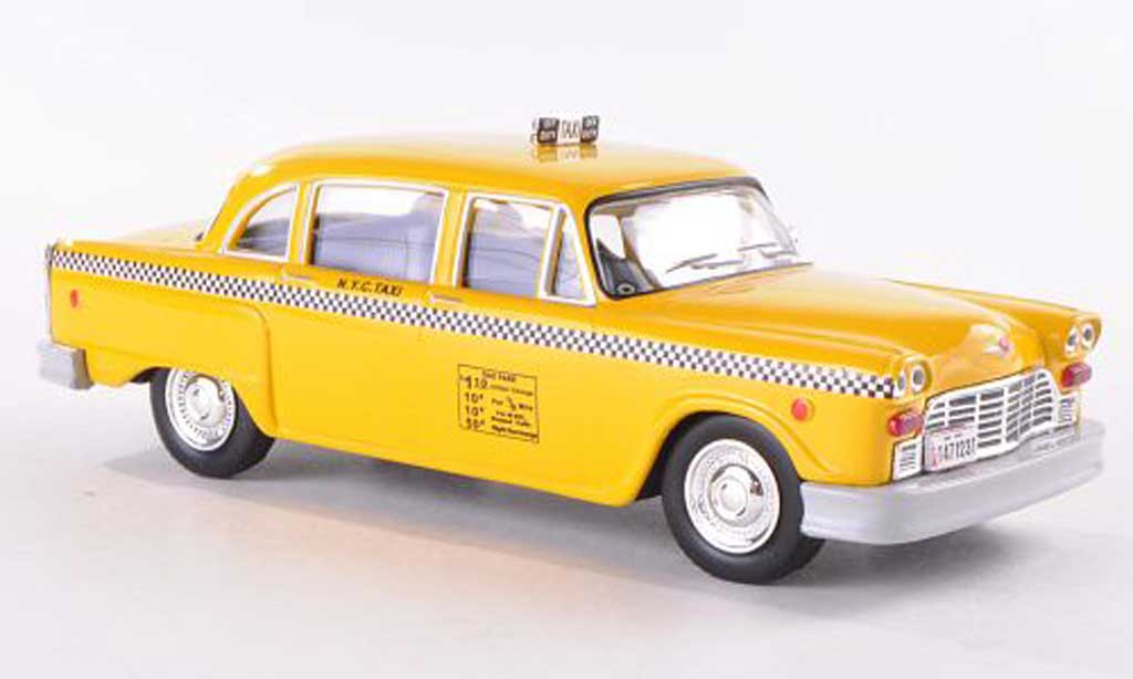 Checker Marathon Yellow Cab - New York City Taxi 1980 WhiteBox. Checker Marathon Yellow Cab - New York City Taxi 1980 Taxi miniature 1/43