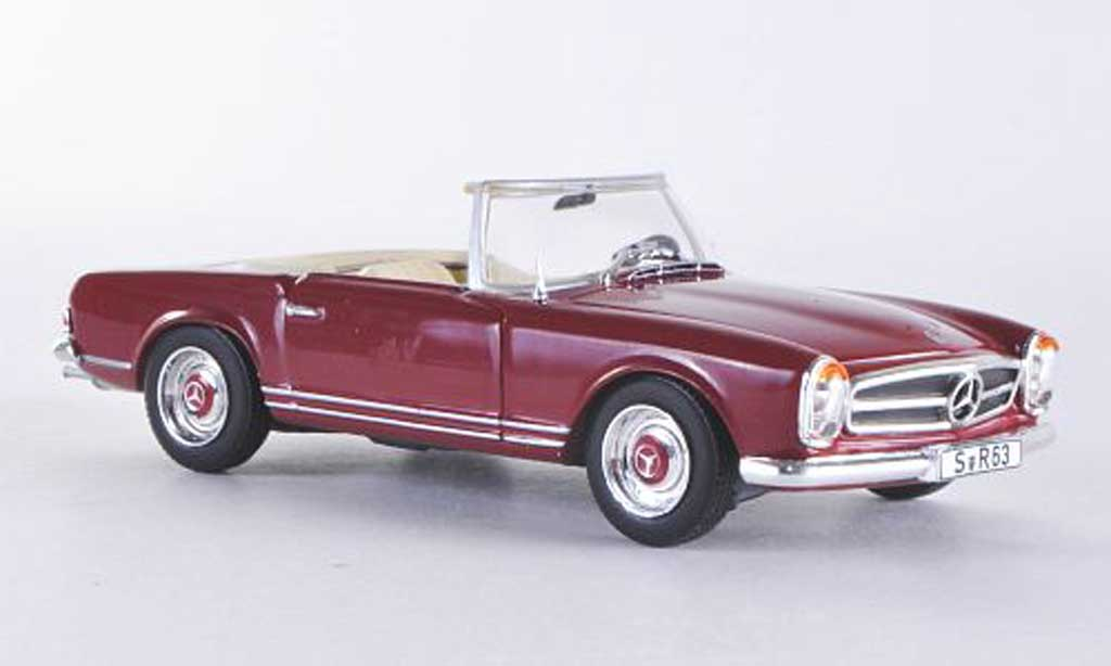 Mercedes 230 SL 1/43 WhiteBox (W113) rouge 1963