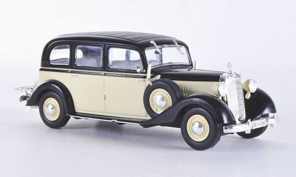 Mercedes 260 D 1/43 WhiteBox (W138) beige/noire 1936 miniature