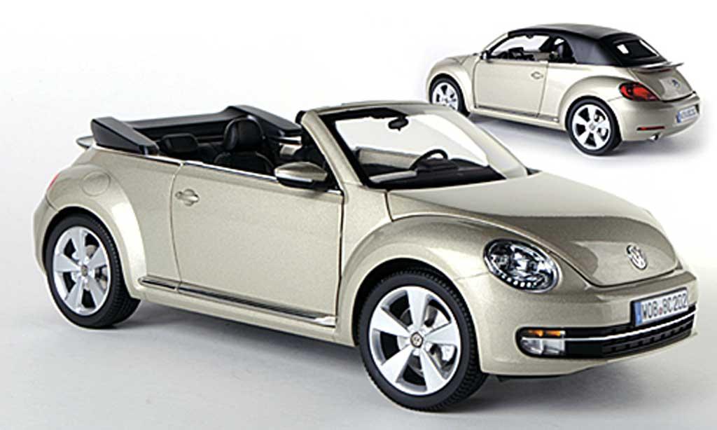 Volkswagen Beetle Cabriolet 1/18 Kyosho beige 2013 miniature