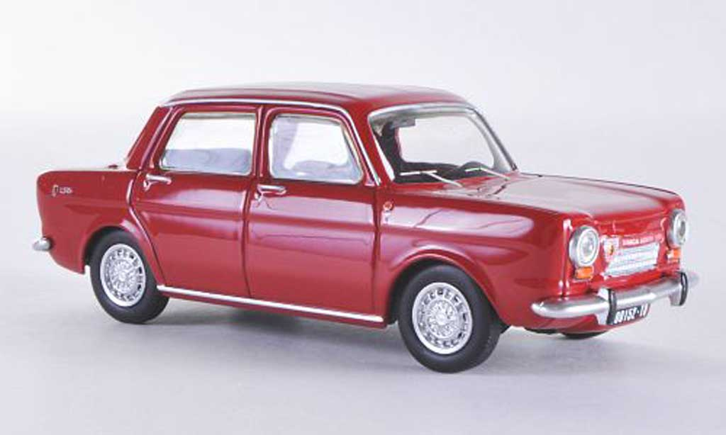 Simca 1150 Abarth 1/43 Best rot 1963 modellautos