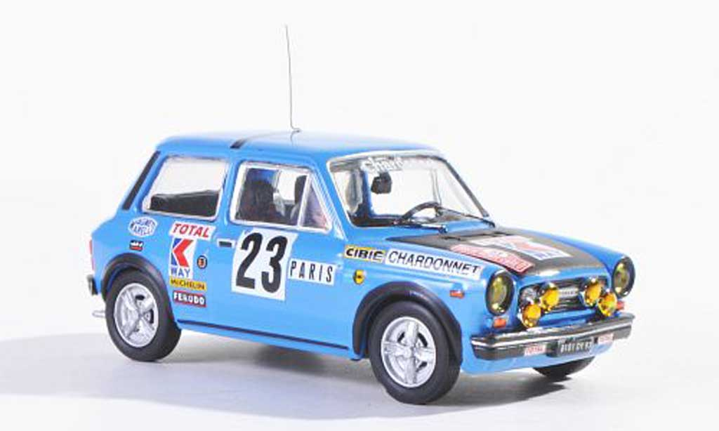 Autobianchi 1/43 Best Abarth No.23 Rally Monte Carlo 1978 Saby/Guegan miniature