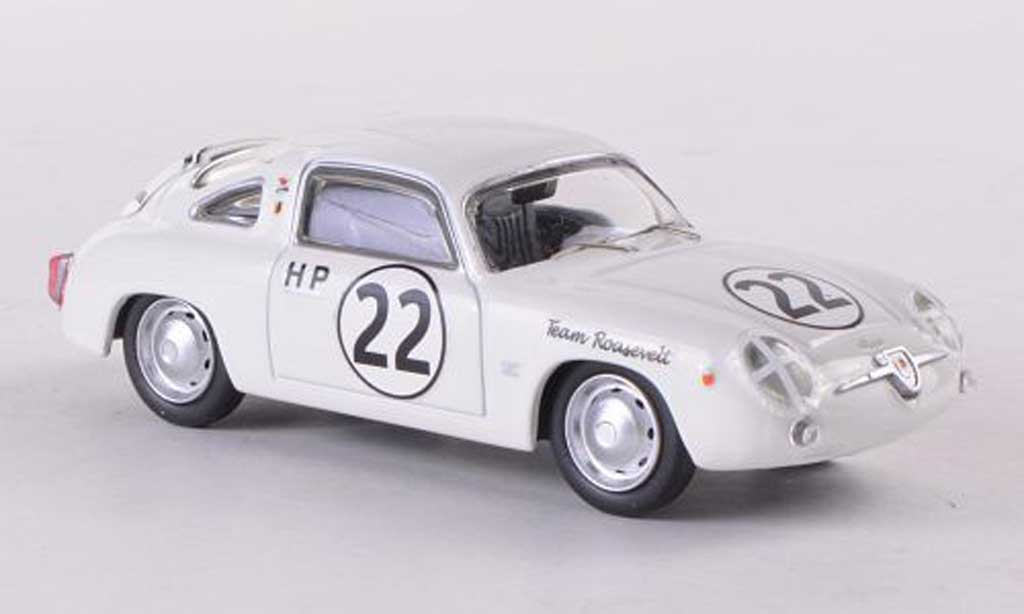 Fiat 750 1/43 Best Abarth Zagato No.22 Team Roosevelt Sebring 1960 miniature