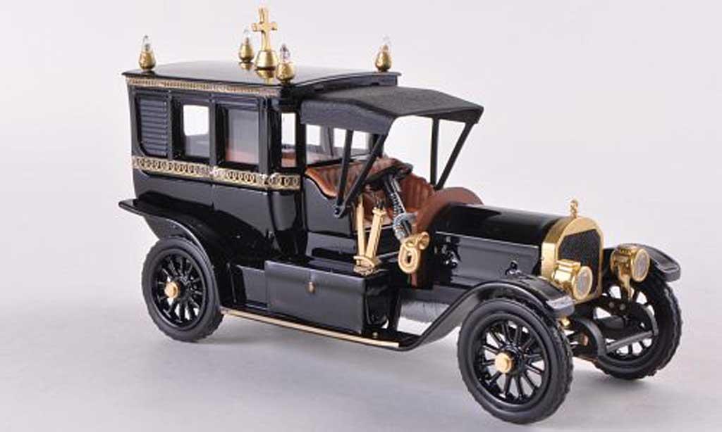 Mercedes 1908 1/43 Rio Bestattungsfahrzeug noire/gold miniature