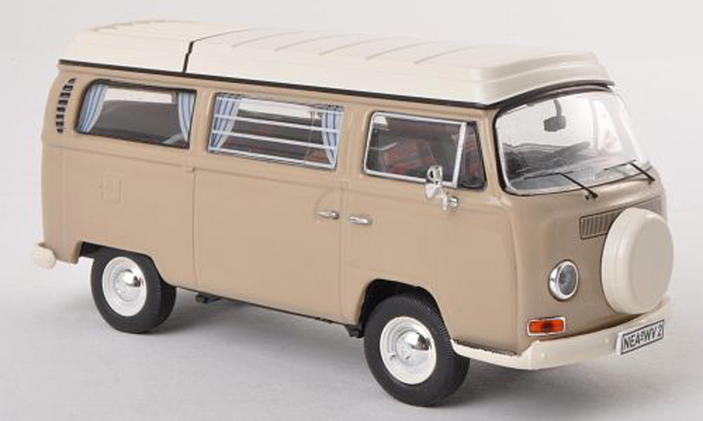 Volkswagen T2 A 1/43 Premium ClassiXXs Camping (neues toit rabattable Ersatzrad) gris  diecast