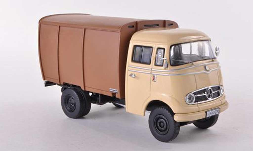 Mercedes L319 1/43 Premium ClassiXXs L 319 Viehtransporter beige/marron miniature