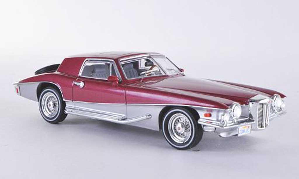 Stutz Blackhawk 1/43 Premium X Coupe rouge/grise Sondermodell limitierte Auflage 750 Stuck 1971 miniature