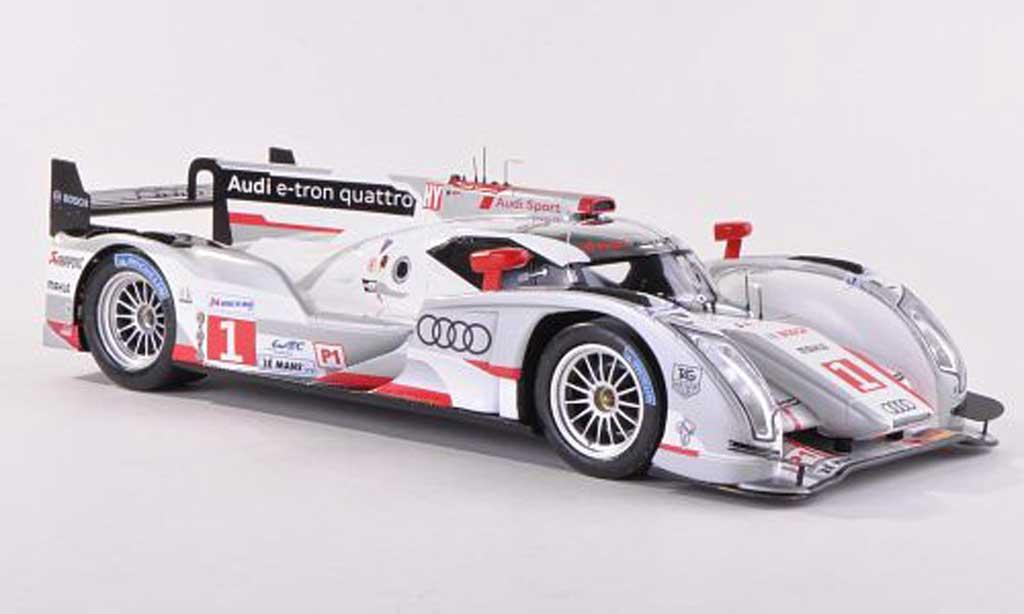 Audi R18 1/43 Spark e-tron quattro No.1 Sport Team Joest 24h Le Mans 2012 M.Faessler/A.Lotterer/B.Treluyer miniature