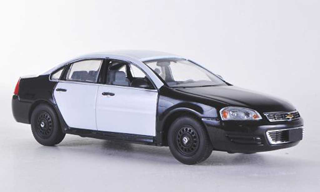 Chevrolet Impala 2011 1/43 First Response noire/blanche mit Polizei-Zubehor
