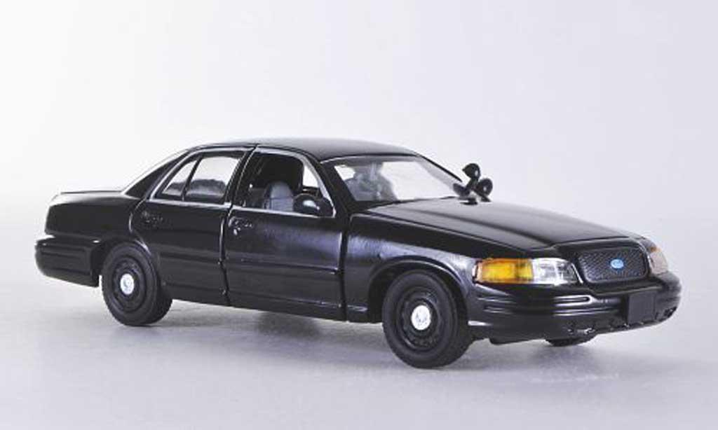 Ford Crown 1/43 First Response Victoria noire mit Polizei-Zubehor miniature