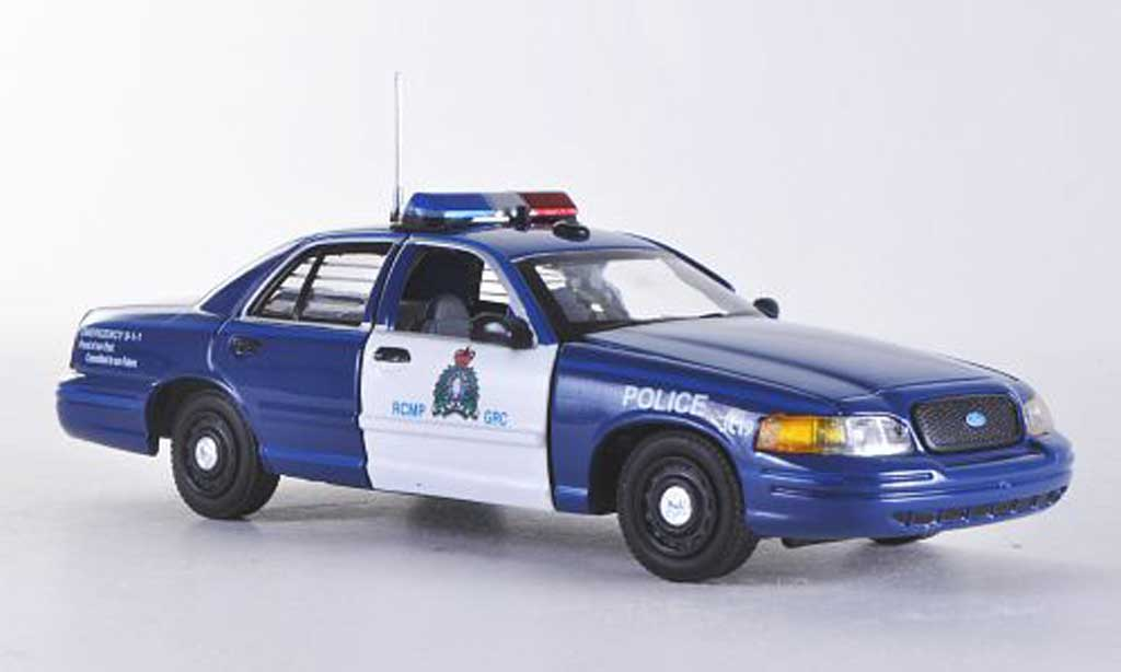 Ford Crown 1/43 First Response Victoria RCMP - Royal Cnadian Mounted Police bleu/blanche Polizei (CAN)  miniature