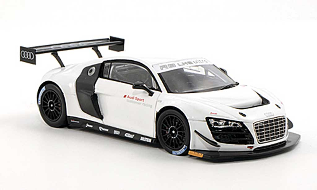 audi r8 lms miniature ultra blanche plain body version 2012 spark 1 43 voiture. Black Bedroom Furniture Sets. Home Design Ideas