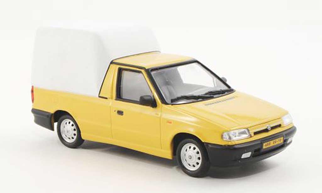 Skoda Felicia 1/43 Abrex Pick-Up jaune/blanche 1996 miniature