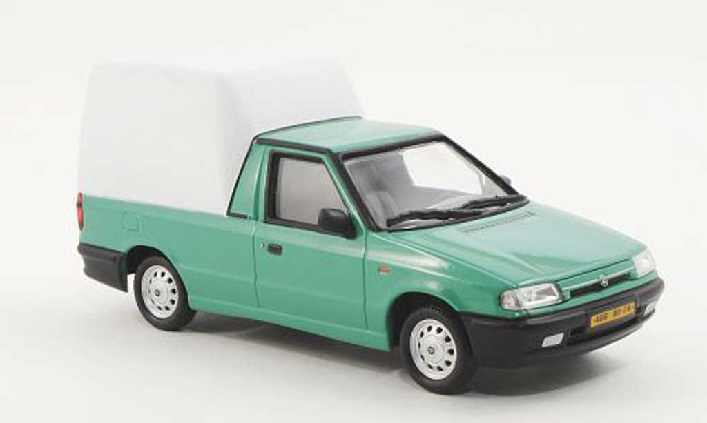 Skoda Felicia 1/43 Abrex Pick-Up grun/blanche 1996 miniature