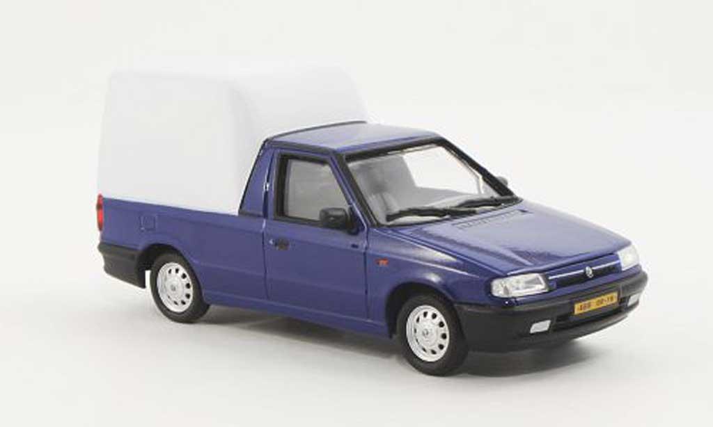 Skoda Felicia 1/43 Abrex Pick-Up bleu/blanche 1996 miniature