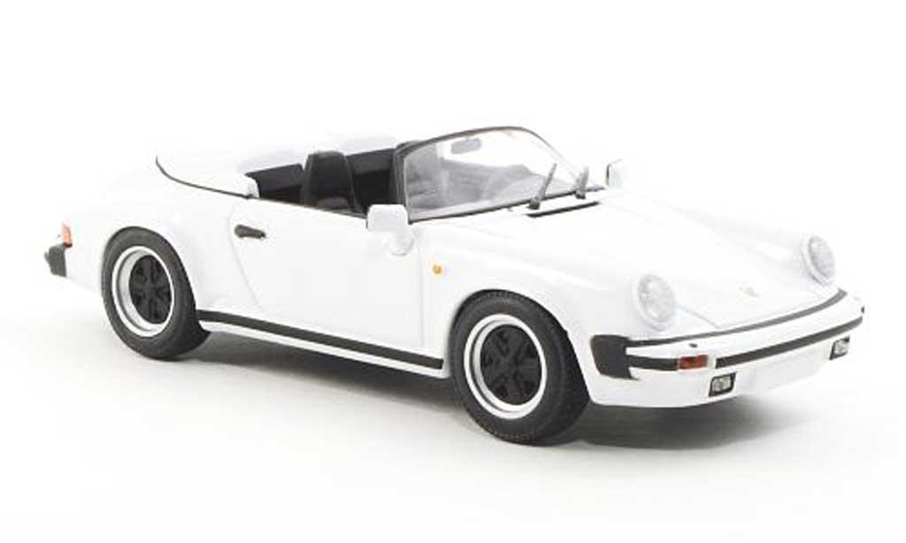 Porsche 930 Speedster 1/43 Minichamps Carrera blanche 1989 miniature