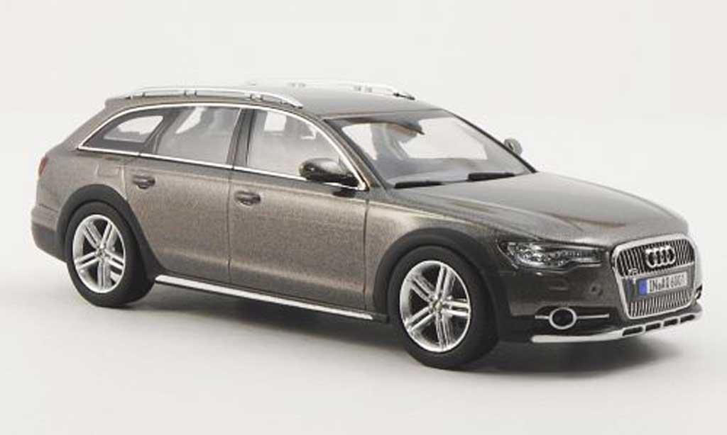 Audi A6 Allroad 1/43 Kyosho Quattro (C7) grise 2012 miniature