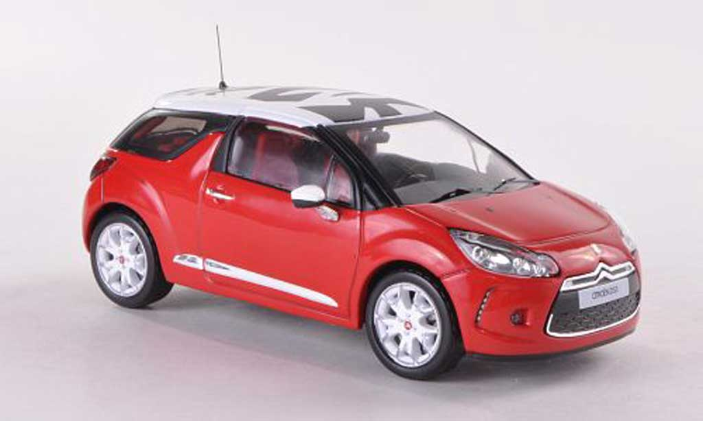 citroen ds3 sport chic red white 2011 ixo diecast model. Black Bedroom Furniture Sets. Home Design Ideas