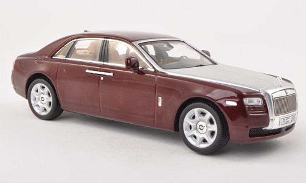 Rolls Royce Ghost 1/43 IXO noire-rouge/grise LHD 2009 miniature