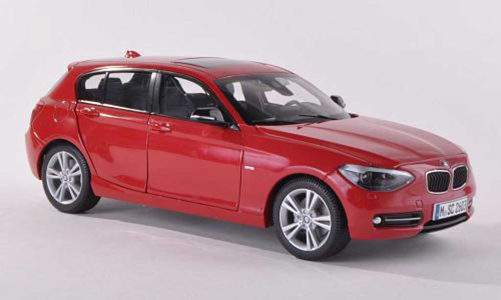 Bmw 120 F20 1/18 Paragon d black-red  diecast