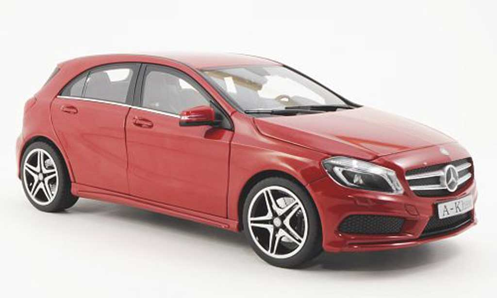 mercedes classe a miniature w176 rouge 2012 norev 1 18 voiture. Black Bedroom Furniture Sets. Home Design Ideas