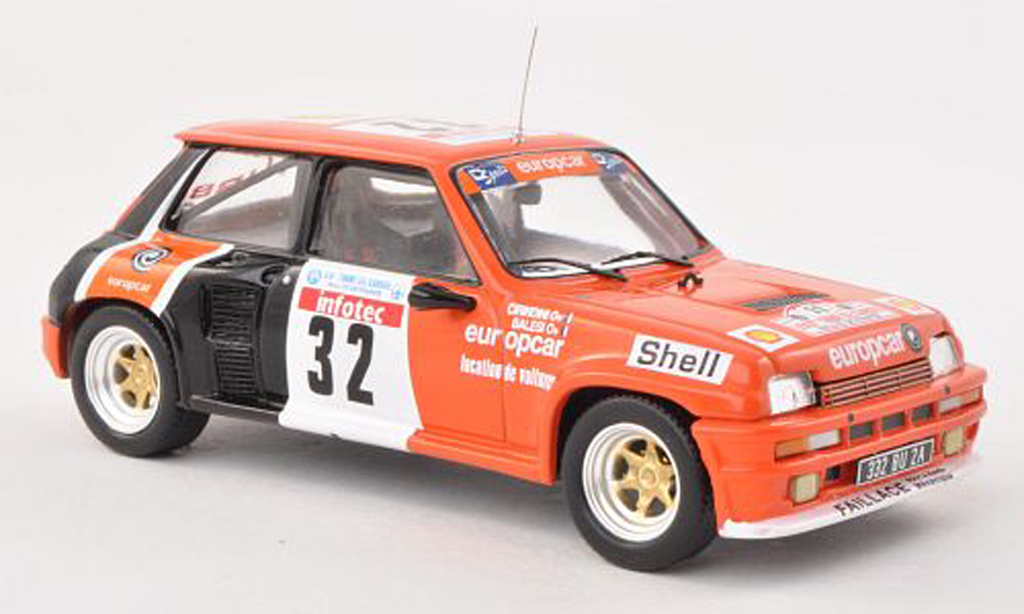 Renault 5 Turbo 1/43 IXO No.32 Europcar Tour de Corse 1986 C.Balesi/J.-P.Cirindini miniature