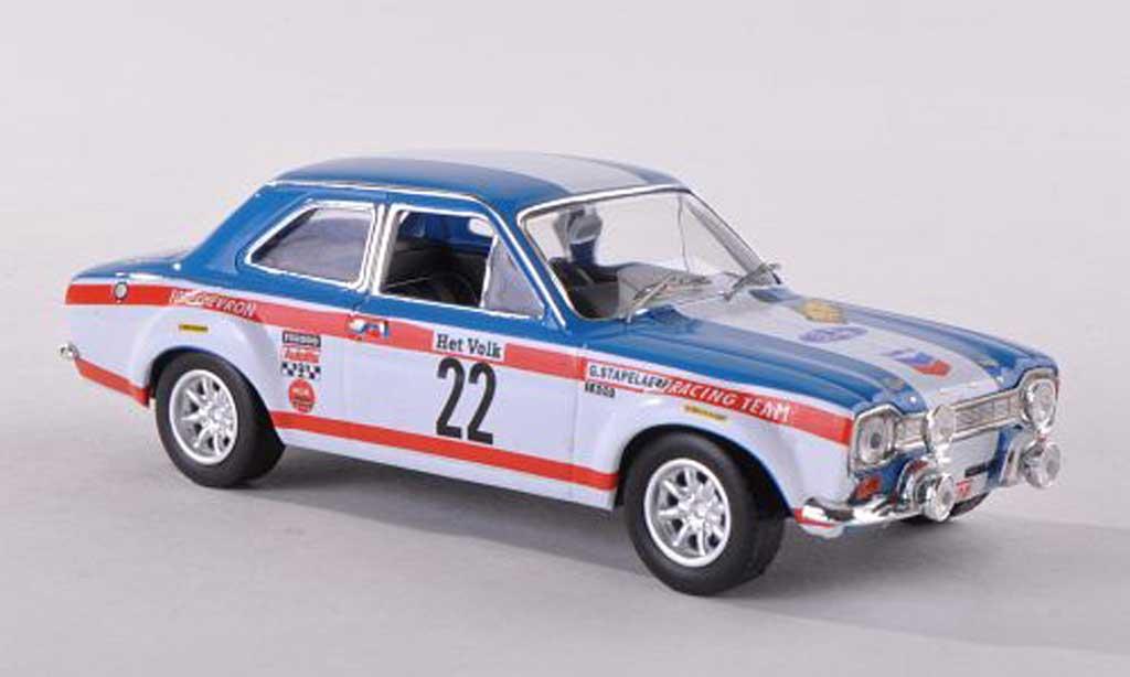 Ford Escort MK1 1/43 IXO 1600TC No.22 Chevron Rally Ypres 1970 Stapelaere/Aerts miniature