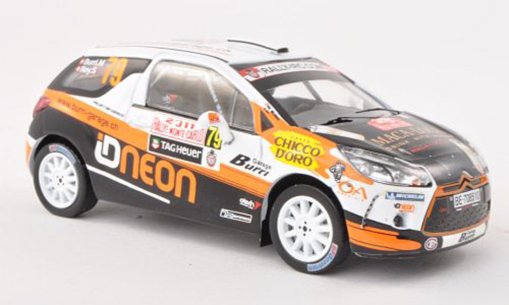 Citroen ds3 r3 miniature burri garage rally monte carlo 2011 m burri s rey ixo 1 43 - Garage miniature citroen ...