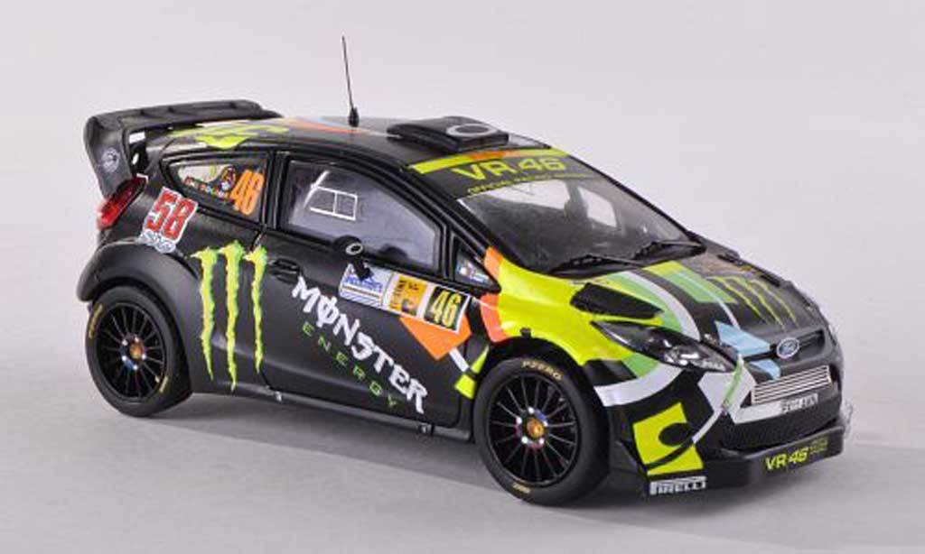 Ford Fiesta WRC 1/43 IXO No.46 Monster Monza Rally 2011 V.Rossi/C.Cassina miniature