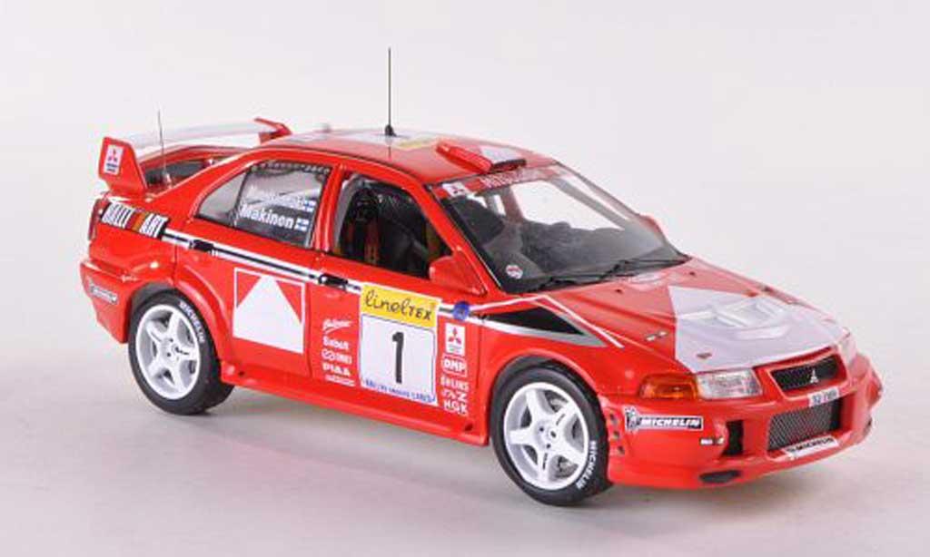Mitsubishi Lancer Evolution VI 1/43 IXO No.1 Ralliart Rally Monte Carlo 1999 T.Makinen/R.Mannisenmaki miniature