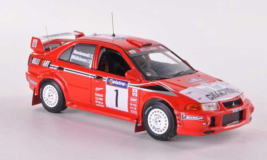 Mitsubishi Lancer Evolution VI 1/43 IXO No.1 Ralliart Champions Rally Australien 1999 T.Makinen/R.Mannisenmaki miniature