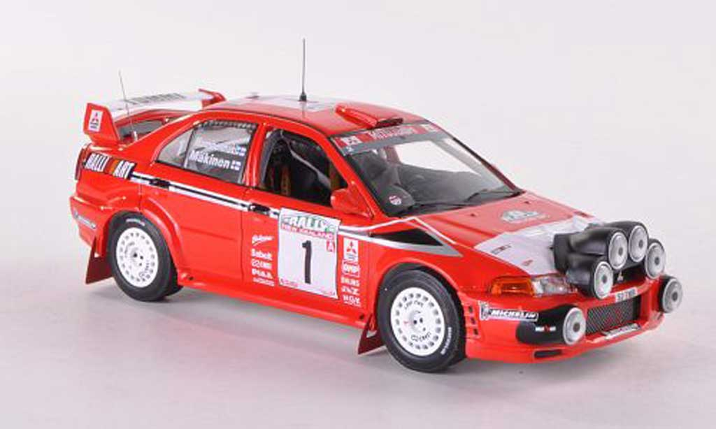 Mitsubishi Lancer Evolution VI 1/43 IXO No.1 Ralliart Tommy Rally Neuseeland 1999 T.Makinen/R.Mannisenmaki miniature