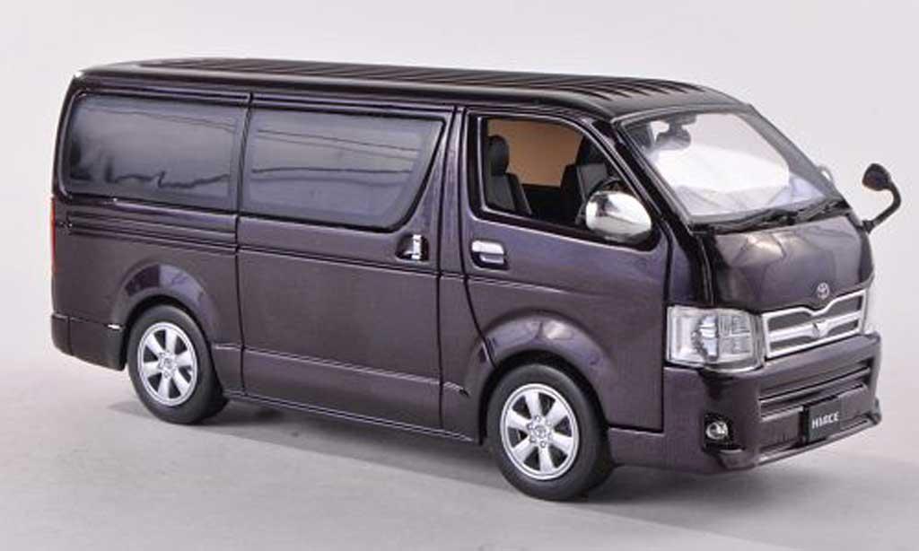 Toyota Hiace 1/43 J Collection Super GL noire-violet RHD 2012 miniature