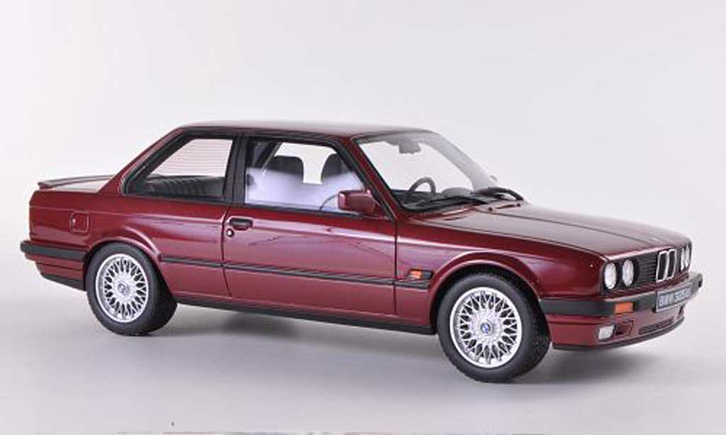 Bmw 325 E30 1/18 Ottomobile is  rouge 1990