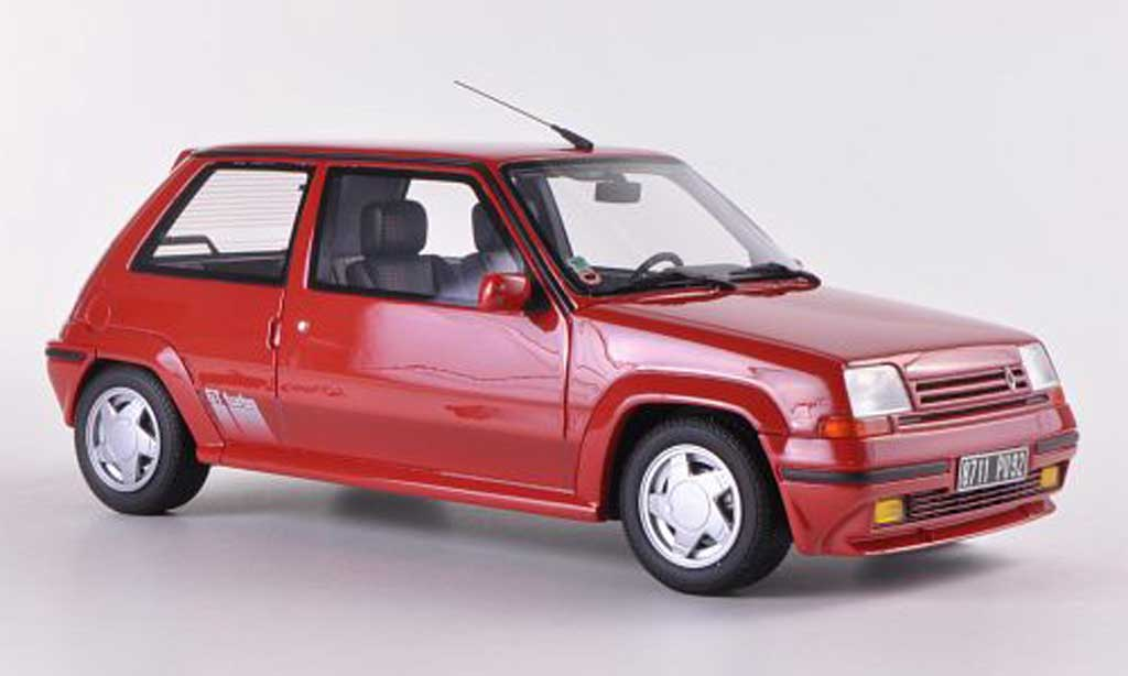 Renault 5 1/18 Ottomobile GT Turbo rouge 1987 miniature