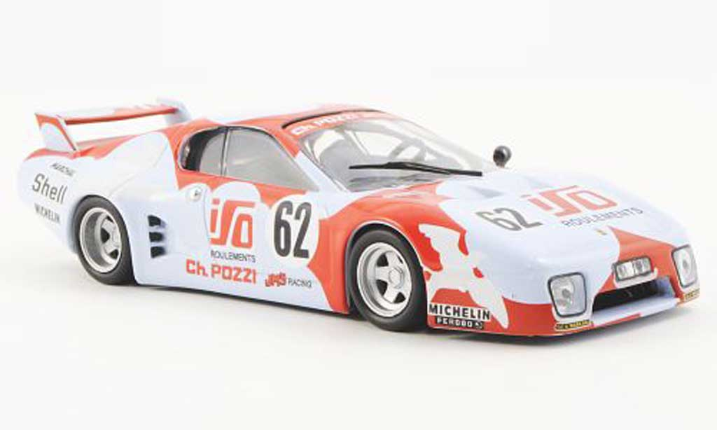 Ferrari 512 BB LM 1/43 Ferrari Racing Collection No.62 JMS Racing S.Dini / J.C.Andruet 24h Le Mans 1979 miniatura
