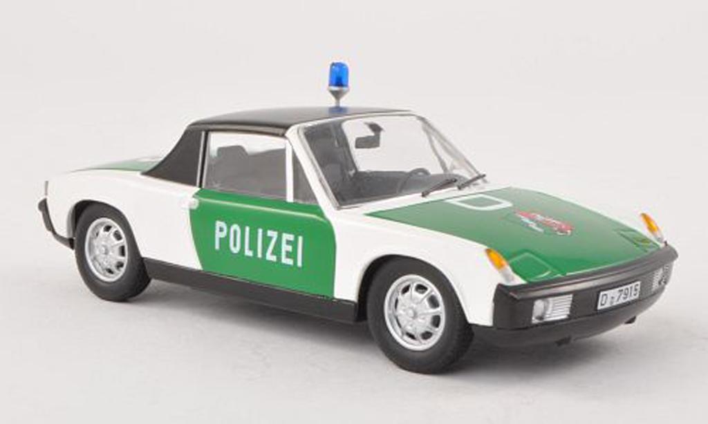 Porsche 914 1/43 Schuco police NRW miniature