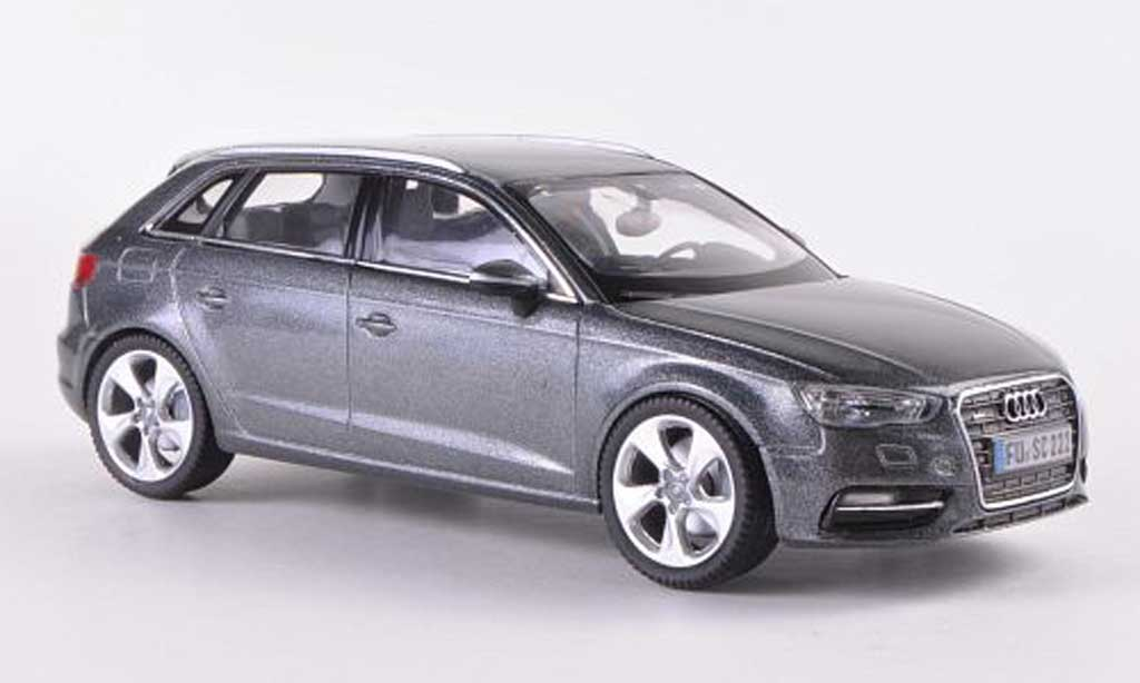 audi a3 miniature sportback grise 2012 schuco 1 43 voiture. Black Bedroom Furniture Sets. Home Design Ideas