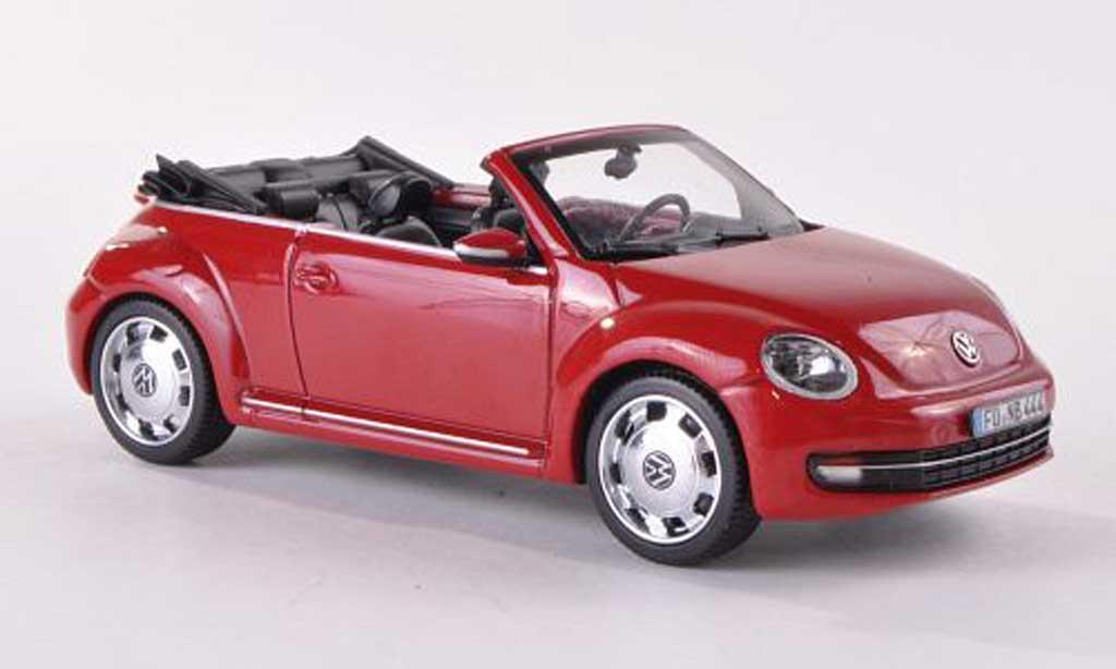 Volkswagen Beetle 1/43 Schuco Cabriolet rouge miniature
