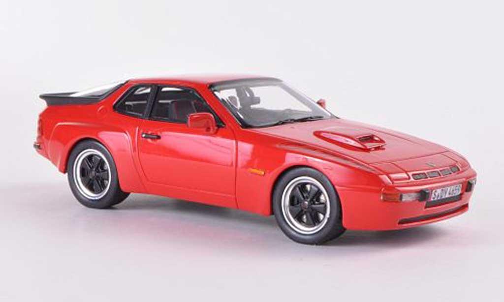 Porsche 924 1980 1/43 Schuco Carrera GT rouge miniature