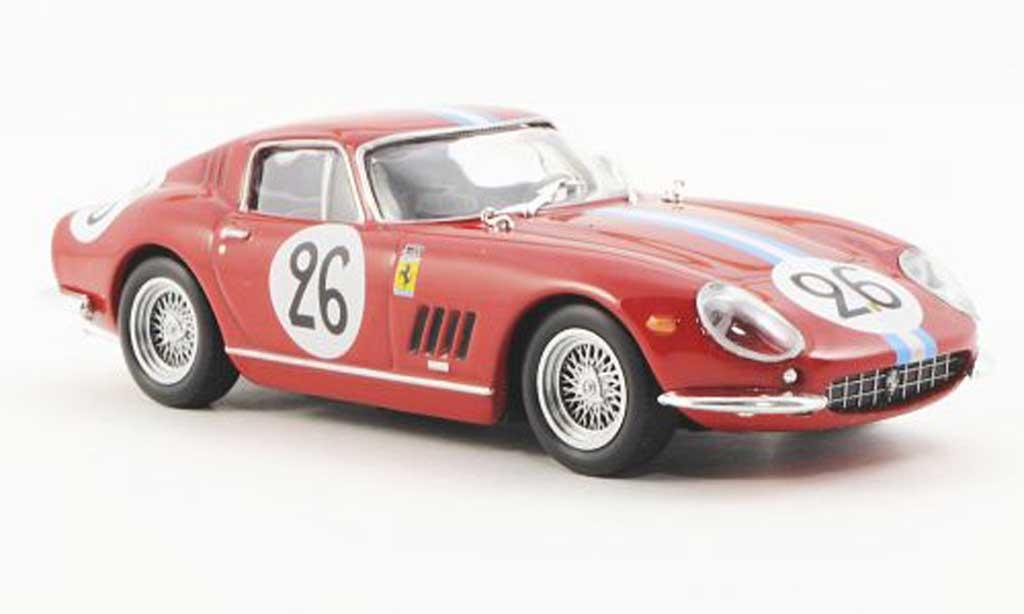 Ferrari 275 1966 1/43 Ferrari Racing Collection GTB/4 Competizione 24h Le Mans G.Biscaldi / M. Bourbon-Parme miniatura